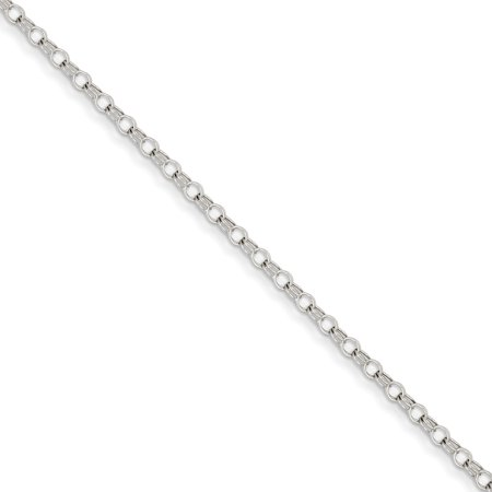 14K Yellow Gold White Gold 3mm Solid Double Link Charm Bracelet - image 2 of 2