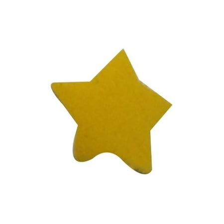 ID 3455A Lot of 3 Tiny Yellow Felt Star Patch Night Sky Craft Iron On