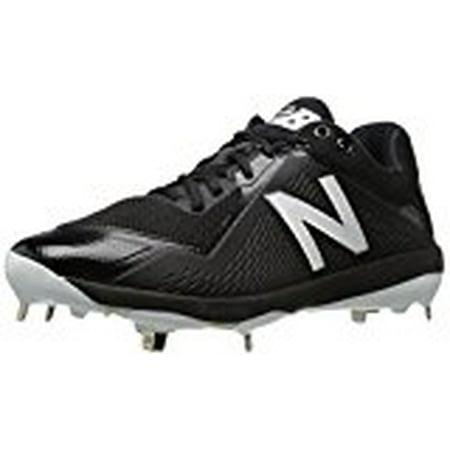 New Balance Men's L4040v4 Metal Baseball Shoe, Black, 14 D US