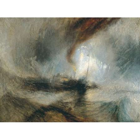 Snow Storm - Steam Boat off a Harbours Mouth Stretched Canvas - William Turner (11 x (Snow Storm Steam Boat Off A Harbours Mouth)