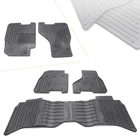 Gzyf 3pcs Black Front And Rear Rubber Floor Mat For Dodge