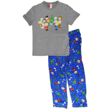 Mens Christmas Pajamas.Peanuts Mens Christmas T Shirt Pajama Bottoms Sleep Set