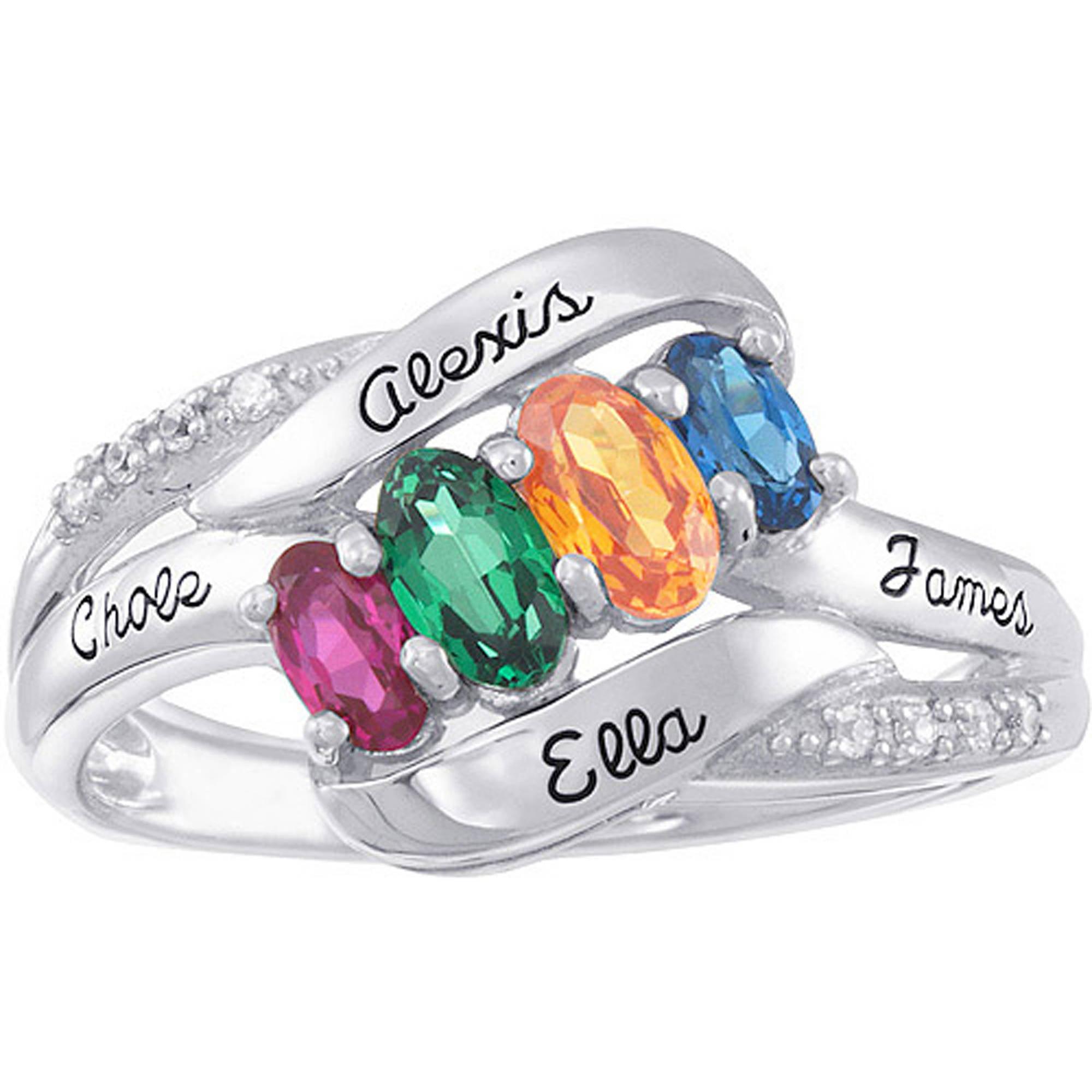 Personalized Keepsake Birthstone Solace Ring