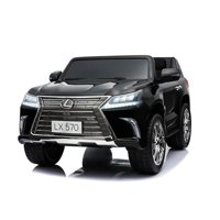 KIDS VIP Luxury 4x4 Edition 2 Seats Lexus LX570 2X12V  Kids Ride on Car, Battery Powered Toy with Doors, Music, DVD, Lights,Rubber Wheels, Leather Seat, Remote