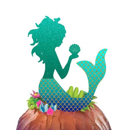 Glitter Mermaid Cake Decoration Cake Topper](Little Mermaid Cake Toppers)