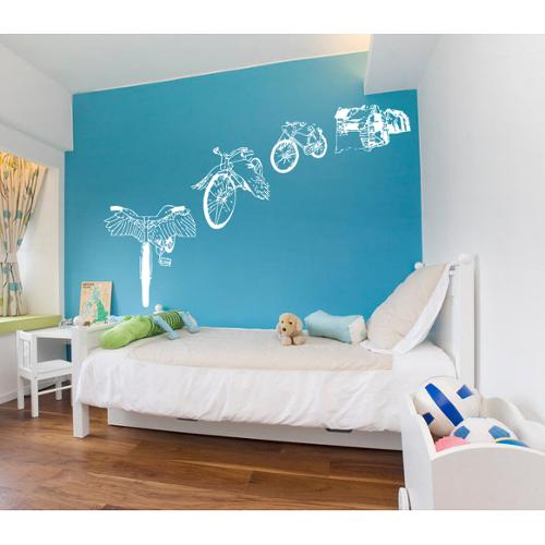 Bike fenders Wall Art Sticker Decal White