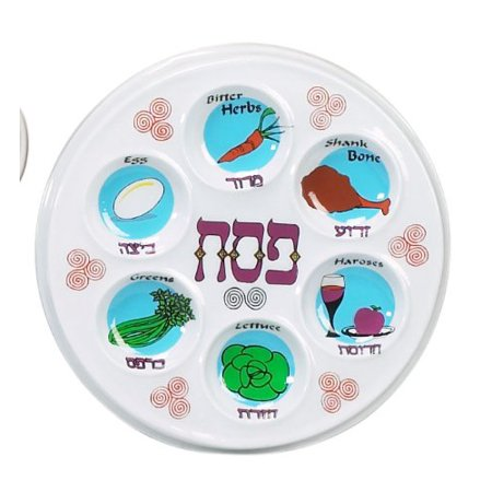 Plastic Disposable Passover Seder Plates - Set of 2 Identical By Need - Passover Seder Plate