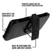 TurtleArmor ® | For Motorola Droid Turbo 2 | Kinzie | Moto X Force | Bounce  [Hyper Shock] Hybrid Dual Layer Armor Holster Belt Clip Case Kickstand -