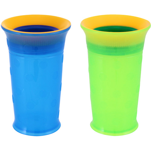 Sassy Grow Up Cups, 9 oz, Set of 2, Blue/Green