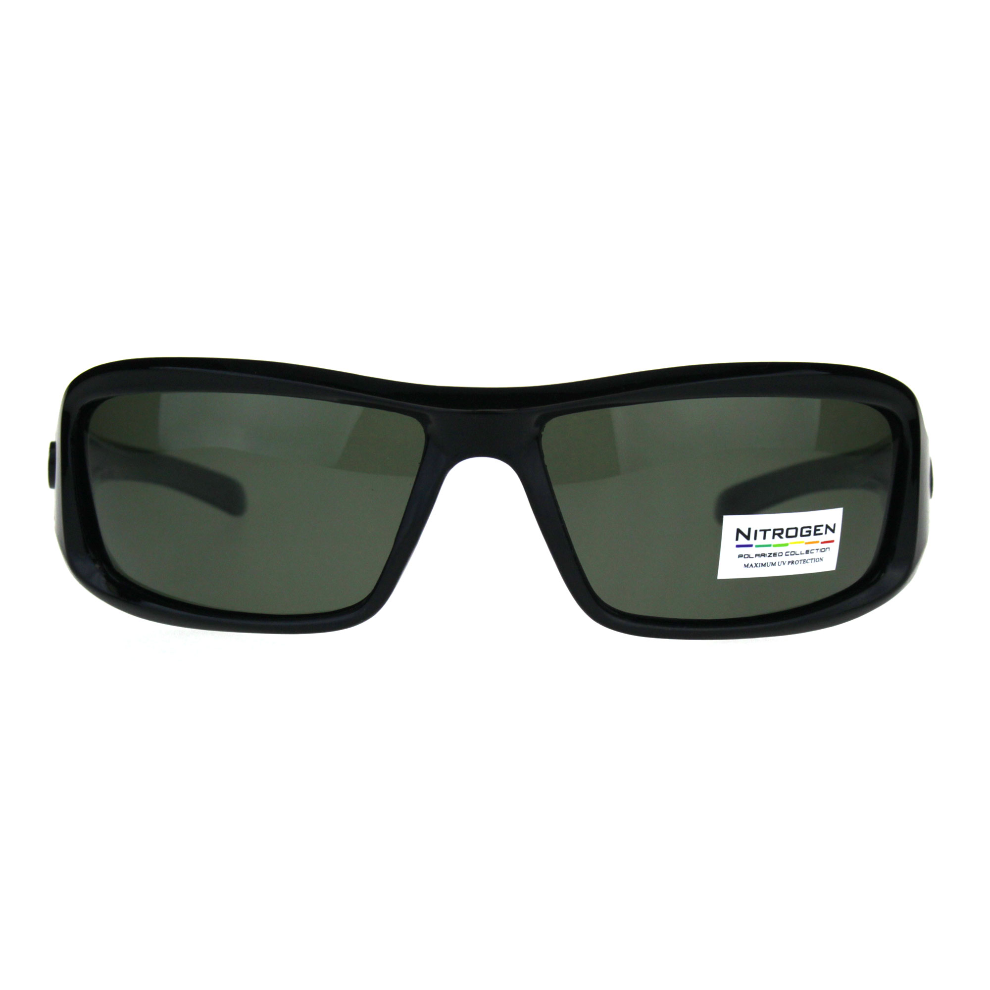 efc0878f6f0 SA106 - Polarized Futuristic Aerodynamic Warp Sport Mens Sunglasses Black  Orange Brown - Walmart.com