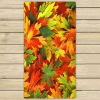 ZKGK Fallen Leaves in Autumn Hand Towel Bath Towels Beach Towel For Home Outdoor Travel Use Size 30x56 Inches