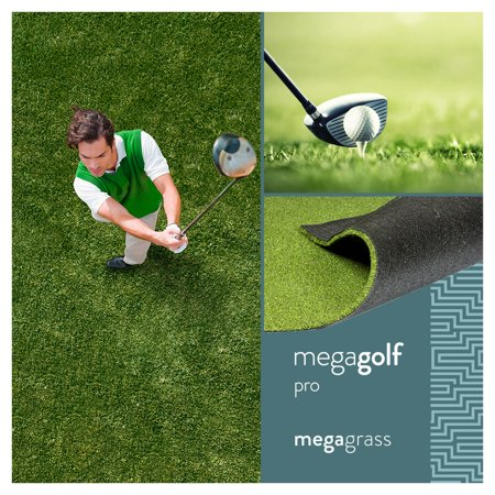 MegaGrass MegaGolf Pro 20 x 59 in Artificial Grass for Golf Putts Indoor/Outoor Area Rug (Tech Putting Green Runner)