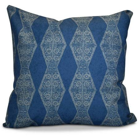 "Simply Daisy 16"" x 16"" Pyramid Stripe Geometric Print Pillow"