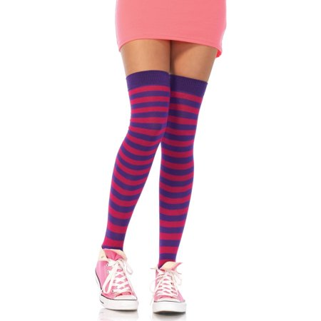 Nylon Striped Thigh Highs Halloween Costume Accessory