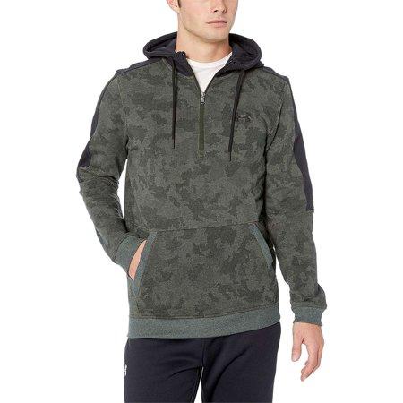 NEW Under Armour Men's Microthread Fleece Camo Half Zip Hoodie ()