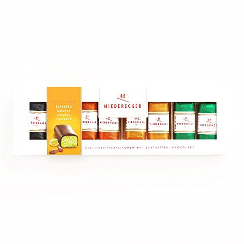 Niederegger Assorted Mini Chocolate and Marzipan Bars 3.5 oz each - Gourmet Christmas Gift for the Holidays (2 Items per Order, Not per Case)