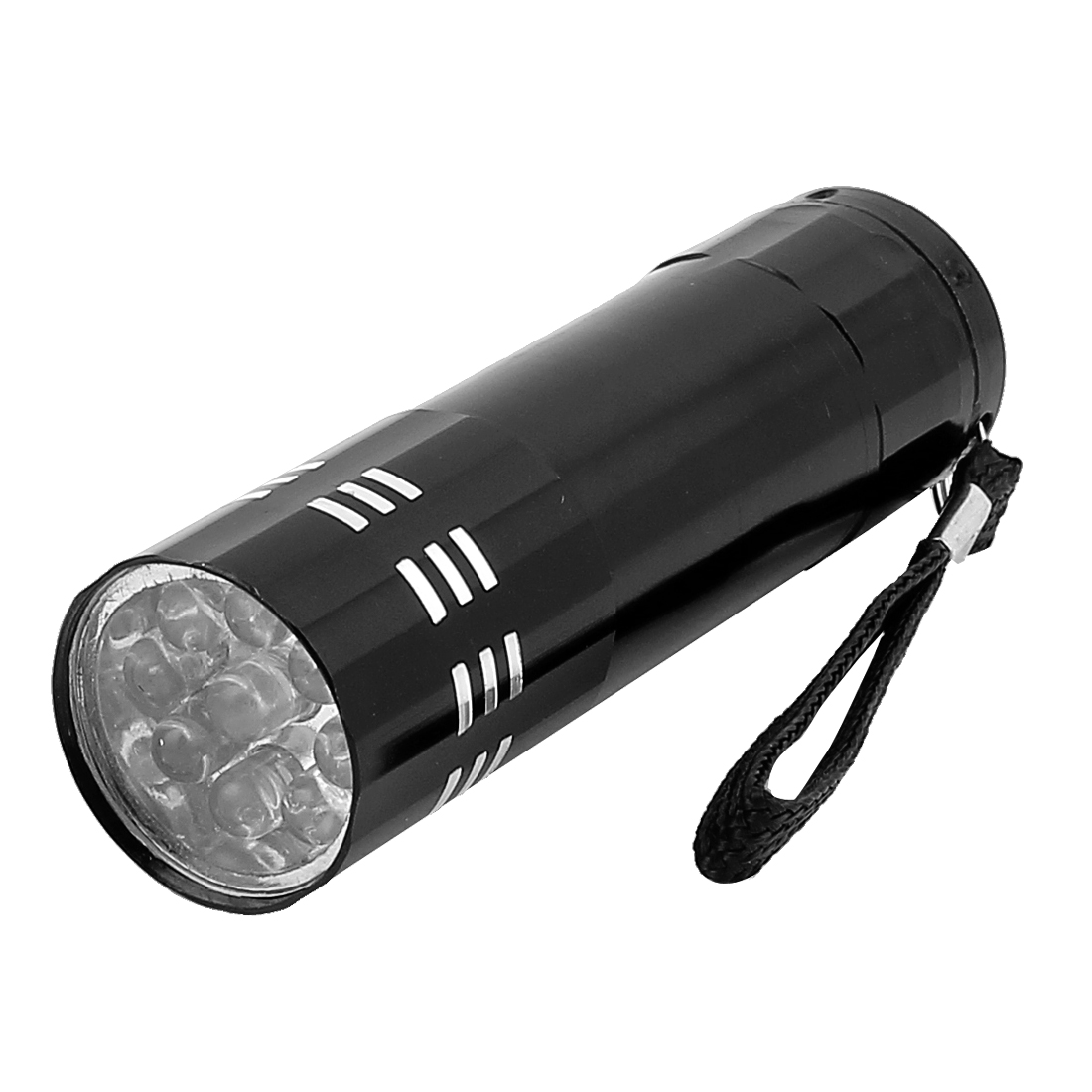 Outdoor Home Aluminium Alloy Shell 9-LED White Light Flashlight Torch Lamp by Unique-Bargains