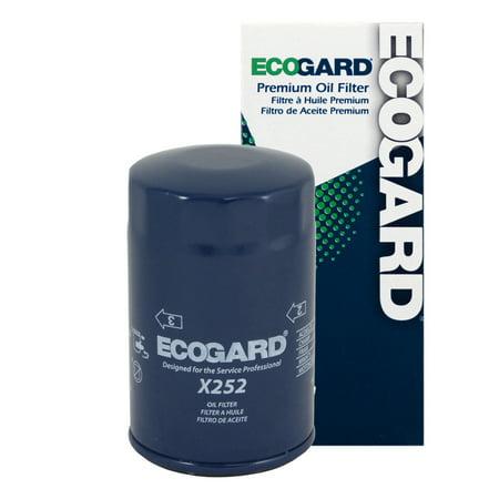 ECOGARD X252 Spin-On Engine Oil Filter for Conventional Oil - Premium Replacement Fits Volkswagen Jetta, Beetle, Golf, Cabrio, Passat, Vanagon, Cabriolet, Rabbit, Scirocco, Fox, (Volkswagen Rabbit Fender Replacement)