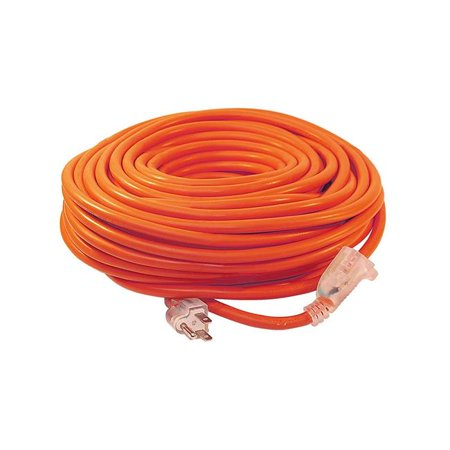 ALEKO ECOI143G100FT ETL Heavy Duty Indoor/Outdoor 100' Extension Cord SJTW Lighted Plug, 14/3 Gauge, Orange