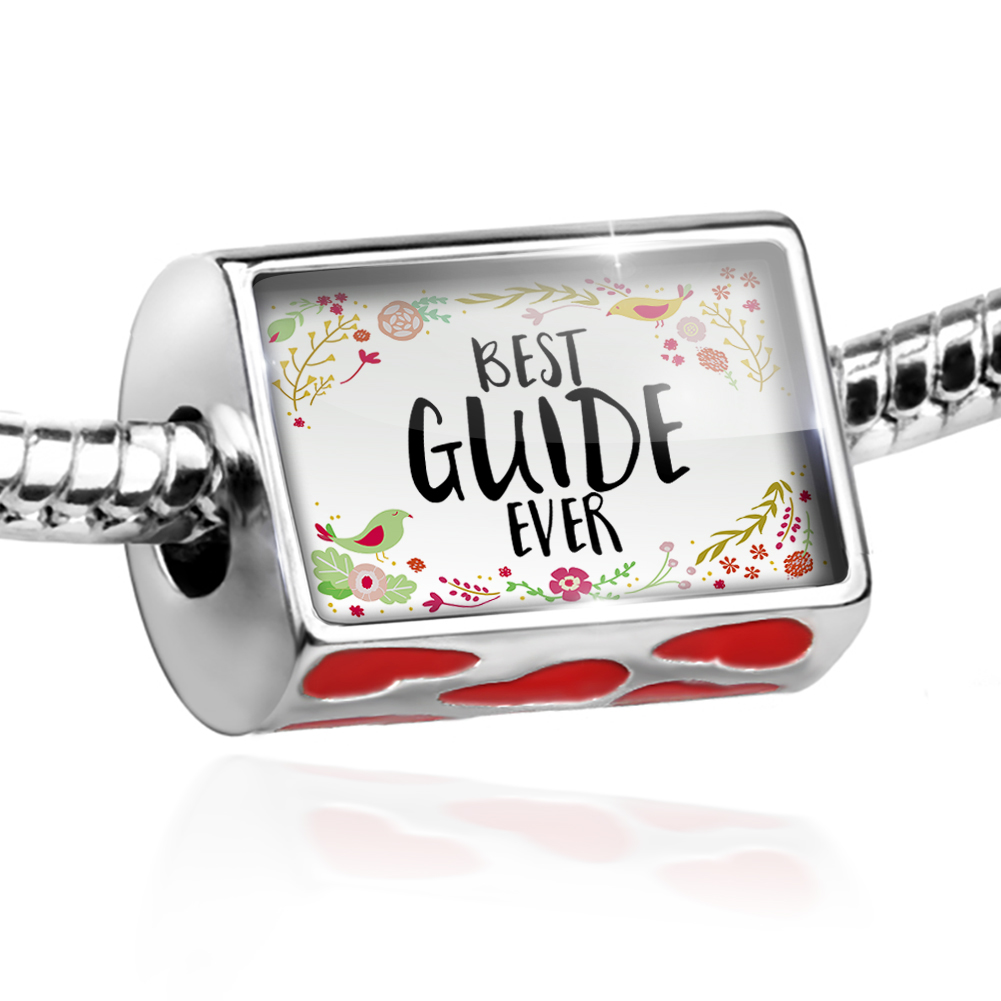 Bead Happy Floral Border Guide Charm Fits All European Bracelets