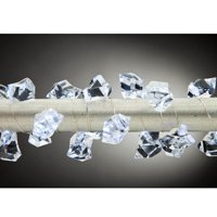 Gerson 93377 - 20 Light Silver Wire Cool White Clear Acrylic Gems Battery Operated Micro LED Christmas Light String Set