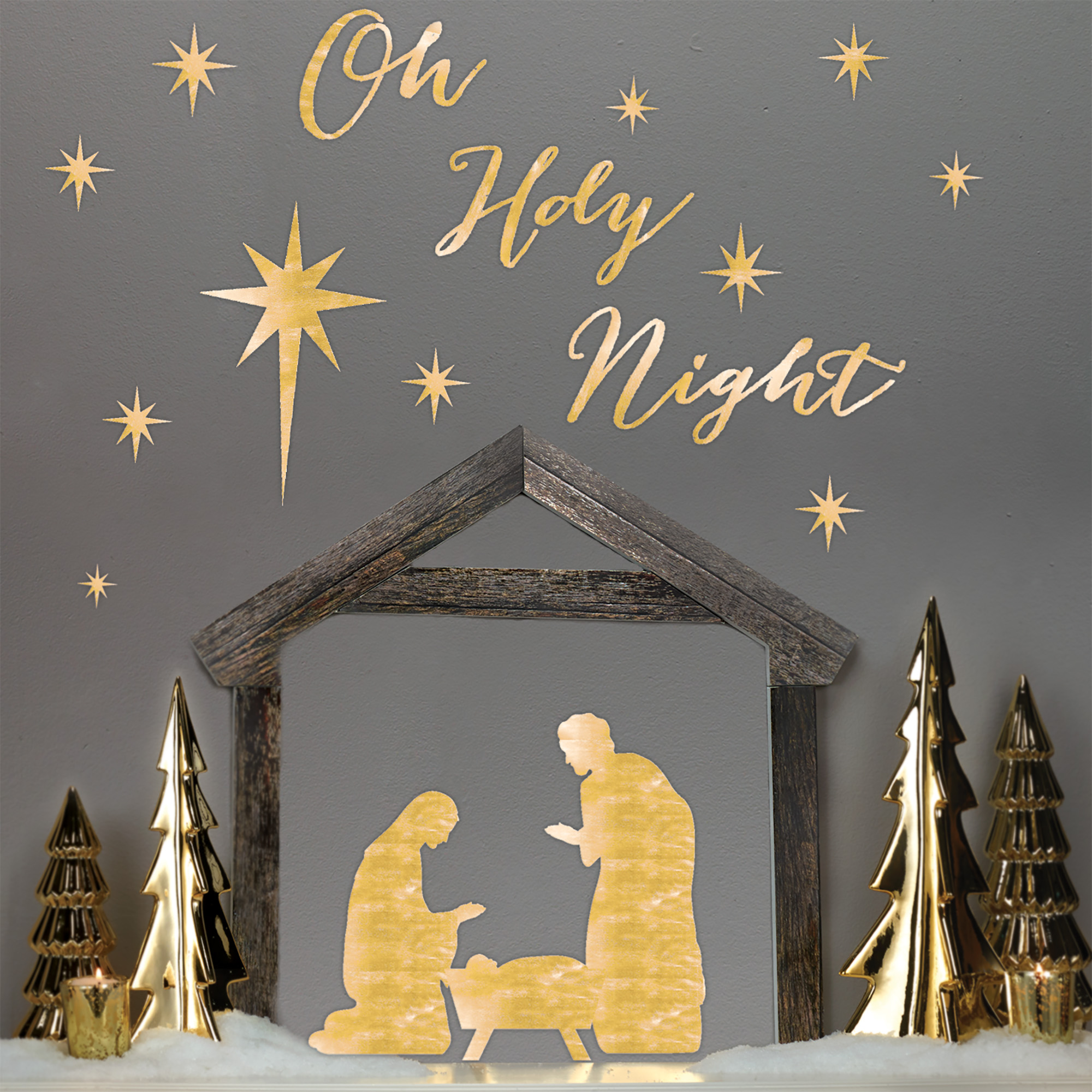 HOLIDAY TIME NATIVITY DIMENSIONAL WALL ART, 27.5 X 13 INCH