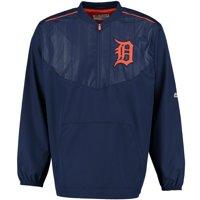 Detroit Tigers Majestic On Field Cool Base Training Half-Zip Jacket - Navy -