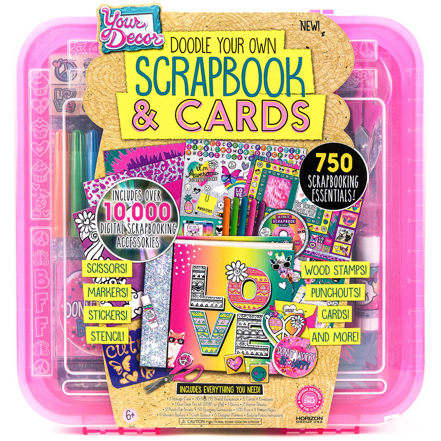 Doodle Deco Scrapbook and Cards Art Kit