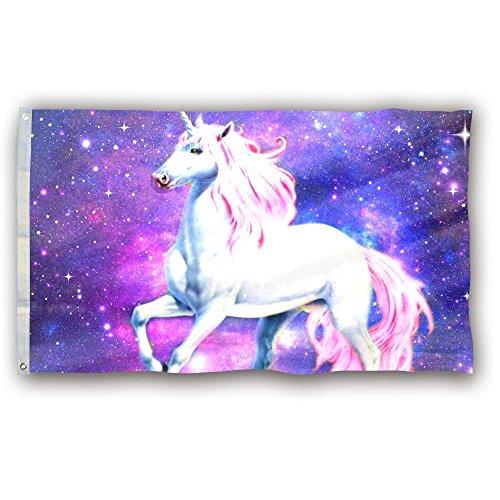 DEYOU Real Unicorn Horse Galaxy Flag 3x5 Feet Banner Flag