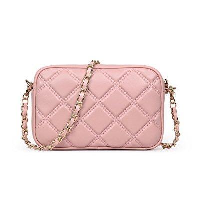 695fbcb8223f ... ainifeel women s quilted purse mini shoulder handbag cross body handbag  with chain strap purse (light