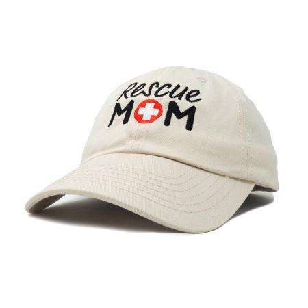 c2c1d383b8443 DALIX - DALIX Rescue Mom Womens Baseball Cap Dad Hat in Beige - Walmart.com