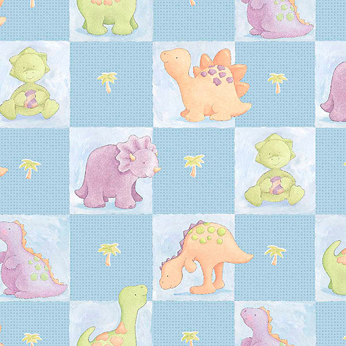 Cute A Saurus Patch Fabric