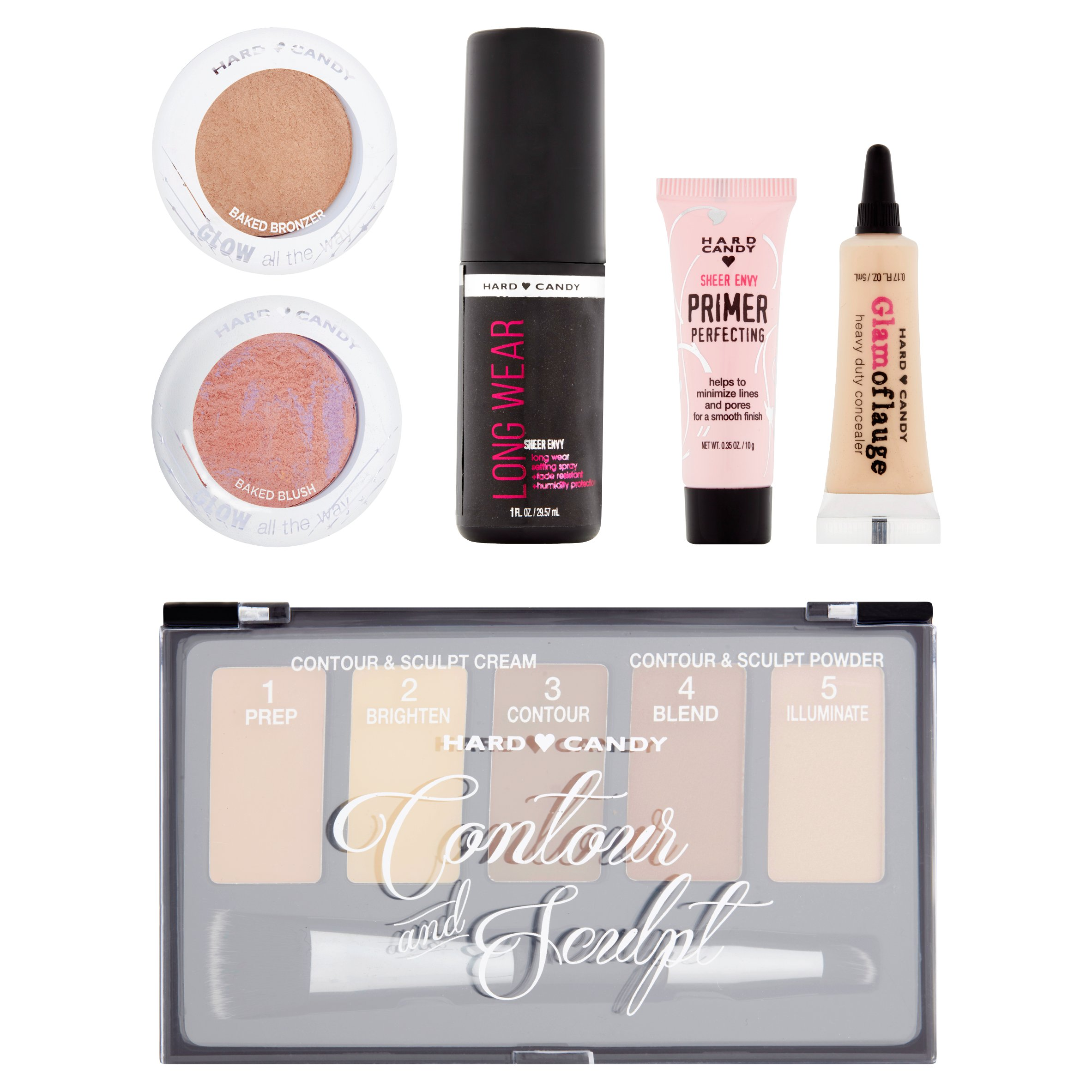 Hard Candy Contour & Glow Make Up Set, 11 piece