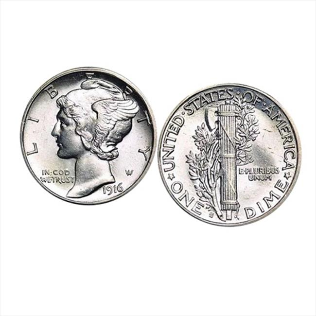 Silver Mercury Dime Coin Cuff Links