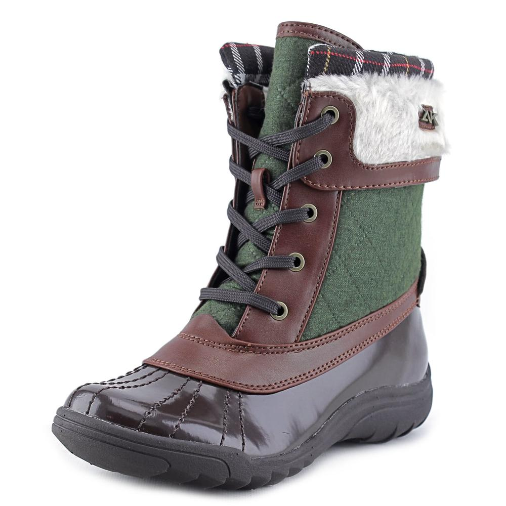 Anne Klein Sport Grania Women  Round Toe Synthetic Brown Snow Boot