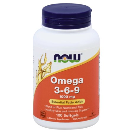 Now Supplements Omega-3-6-9 Softgels, 1000 Mg, 100
