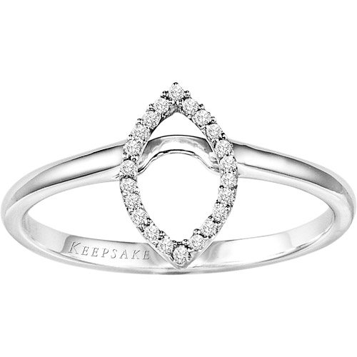 Keepsake Joyful Brilliance 1 10 Carat Round Diamond Solitaire Ring in 10kt Ye