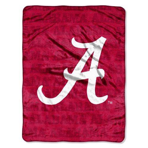 NCAA Alabama Crimson Tide 46-Inch-by-60-Inch Micro-Raschel Blanket, Grunge Design