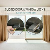 3pcs Stainless Steel Sliding Window Door Locks Transom Adjustable Window Door Stopper w Keys