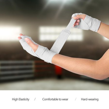 Hilitand 1 Pair Elastic Hand Wrap Bandages Punching Handwrap Protector for Boxing Muay