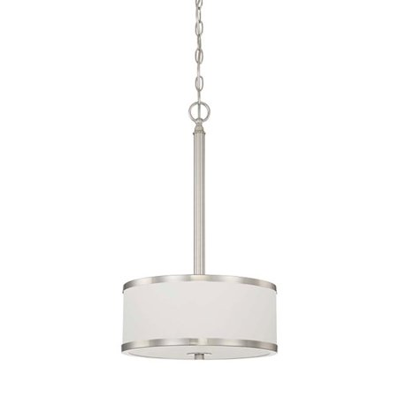 Concord  F21007-80 3-Light Payton Bowl Pendant in Bright Satin Nickel