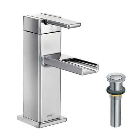Moen Kl90 D S6705cr 90 Degree Single Handle Waterway Bathroom Faucet Chrome
