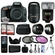 Nikon D5500 SLR Digital Camera (Body Only) 1544 + 55-300mm ED VR Lens + i-TTL Autofocus Flash + 96GB Memory + Case + 2.2x Wide Angle + 0.43x Telephoto + Filters + Full Size Tripod