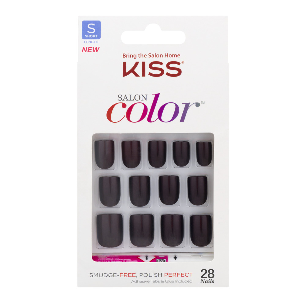 Kiss Salon Color Nails Short Length - 28 CT