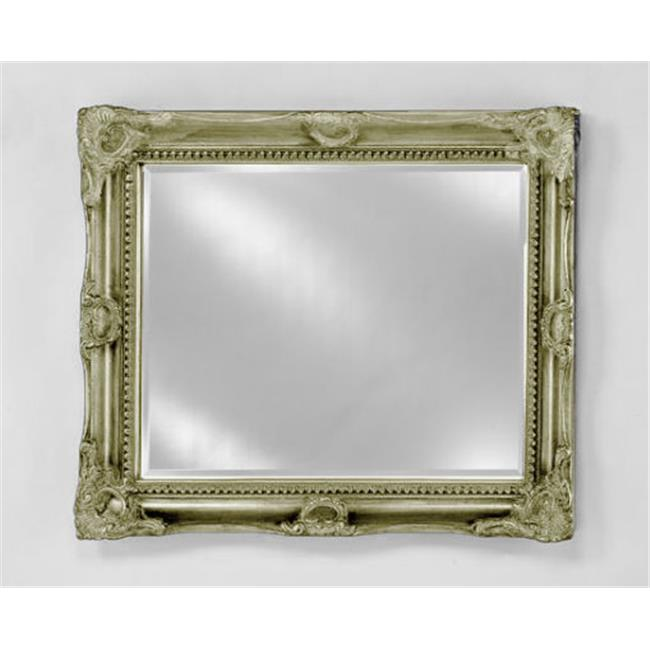 Image of Afina Corporation EC17-5140-SV 51 inchx 40 inchEstate Small Royale Decorative Wall Mirror - Antique Siver
