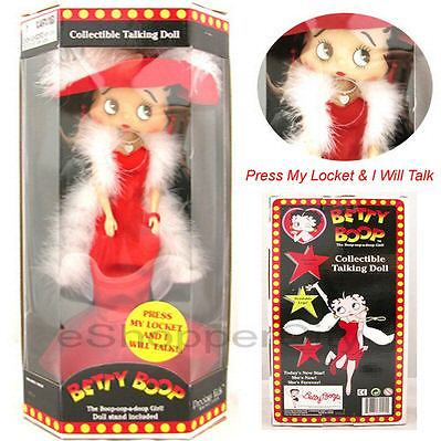 "Betty Boop 12"" Red Hat Doll IC Talking  Hollywood Stylew/ Doll Stand, New Gift Cartoon TV By Precious Kids 31130 Nendable leg 31125"
