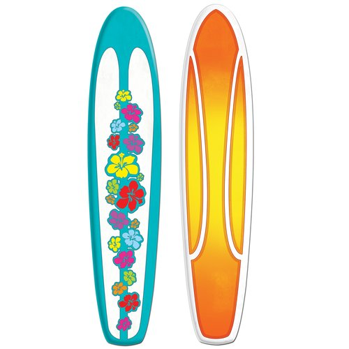 The Beistle Company Jointed Surfboard Wall D cor