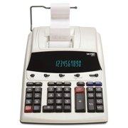 victor 12304 1230-4 fluorescent display printing calculator, black/red print, 3 lines/sec