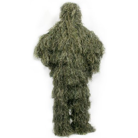 Woodland Camouflage Suit (New Ghillie Suit M/L Camo Woodland Camouflage Forest Hunting 3D 4-Piece +)