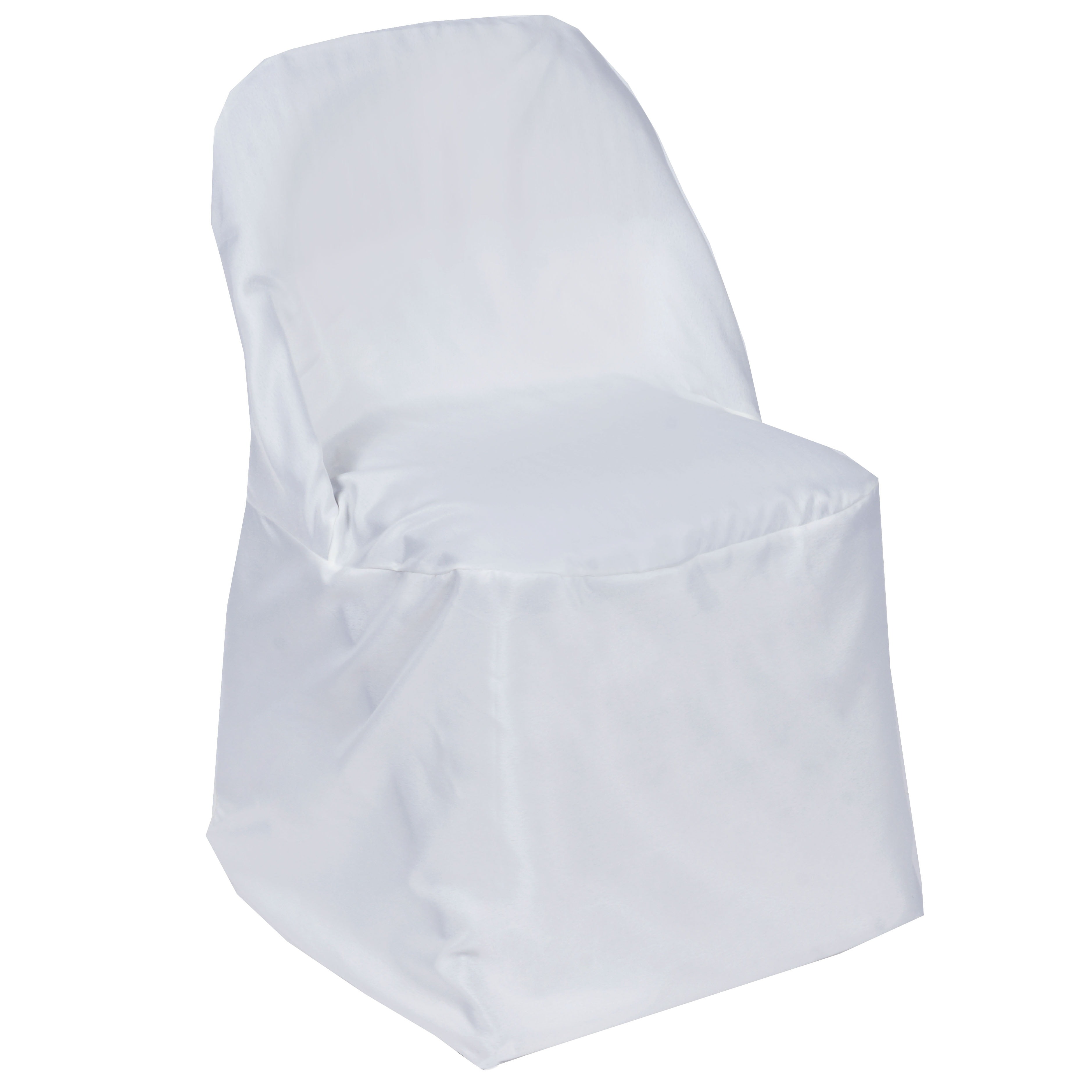 Balsacircle Folding Round Polyester Chair Covers Slipcovers For Party Wedding Reception Decorations Walmart Com Walmart Com